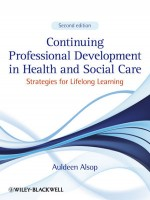 Continuing Professional Development In Health And Social Care: Strategies For Lifelong Learning, 2nd  Edition