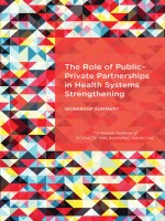The Role of Public-Private Partnerships in Health Systems Strengthening