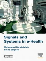 Signals And Systems In E-health, 1st Edition